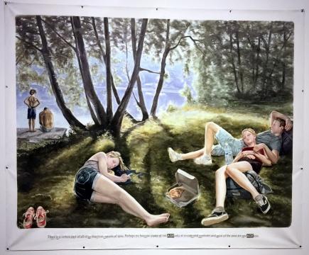 蒙泰安/罗森布拉姆《无题》 200 × 250 cm 布面丙烯、粉笔 2015