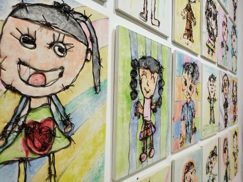 """艾松个展""""21世纪幼稚园""""桥舍画廊展览现场"""