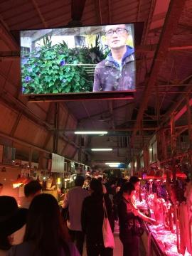 艺术家徐坦的影像作品《社会植物学——捱,动物性自由》在农林菜市场