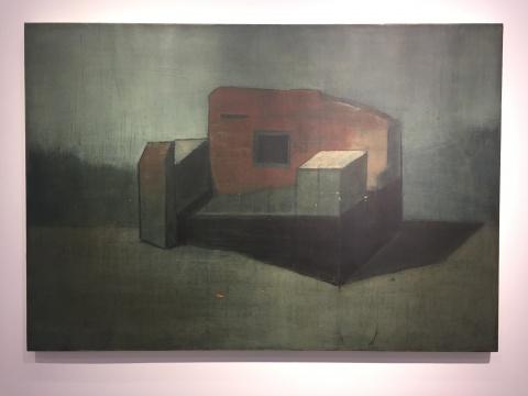 亚历杭德罗 · 坎平斯 《王位》 110×160cm 布面油画 2018