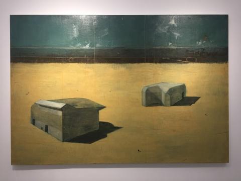 亚历杭德罗 · 坎平斯 《林荫大道-昏沉系列》 178×260cm 布面油画 2018