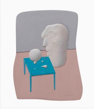 《比例失衡-mini》31×24cm 板上综合材料 2018