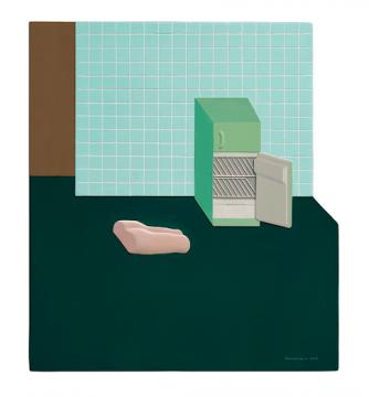 《保质期-mini》40×35cm板上综合材料 2018