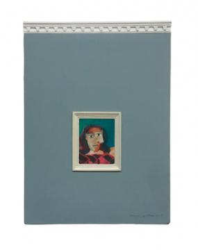 《变调-mini》22×16cm布面综合材料 2018