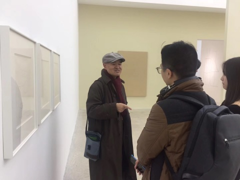 艺术家吴杉与观众交流