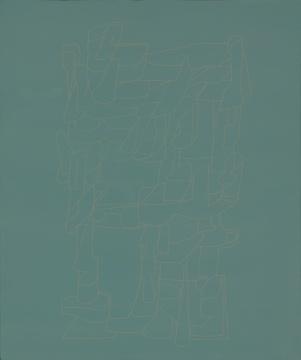 《画眉序》大漆、麻、木板,60cmx50cm 2016