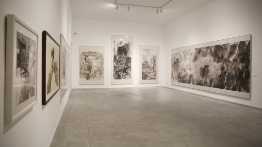 """""""新中国画""""板块展览现场"""