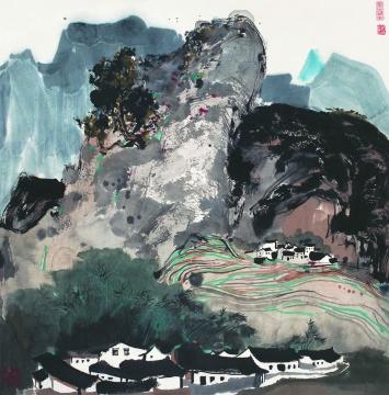 吴冠中 《山水》 91×68cm 中国画
