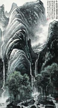 李可染《千岩竞秀万壑争流》130×69cm 中国画