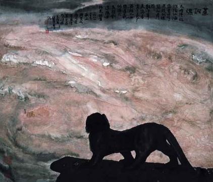 周韶华《黄河魂》80.5×93cm 纸本水墨设色中国画 1981