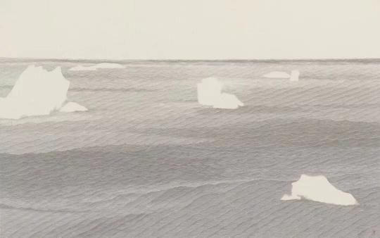 《龙安寺石庭》69x110cm 纸本水墨 2018