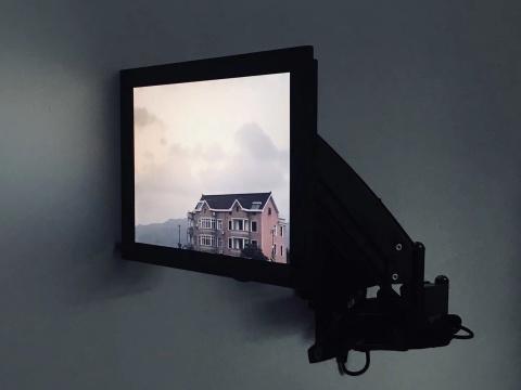 蒋竹韵《全景与凝视》尺寸可变 互动装置 2018