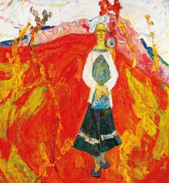 罗尔纯《九月》163×154cm 布面油画 1996