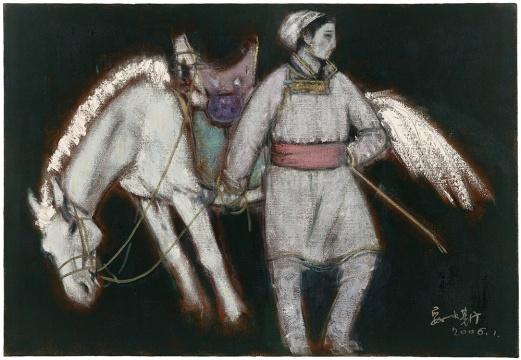 妥木斯《稍息》80X116cm 布面油画2006