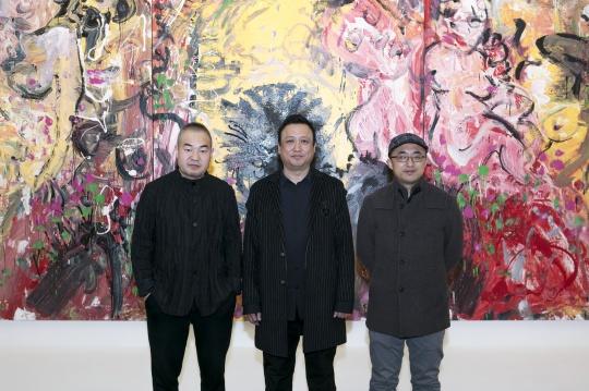 白盒子艺术馆馆长孙永增、艺术家张旭东、策展人杜曦云