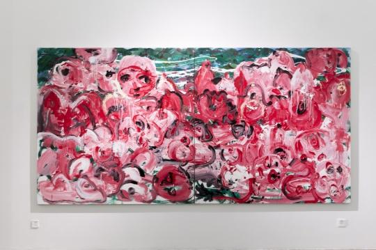 《淖中花 — 撕裂的风景》 布面油画 200 x 400cm 2018