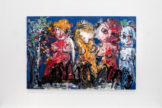 《淖中花 — 美女碎片》 布面油画 200 x 300cm 2018