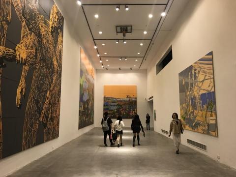 """""""01 变量循环:缪晓春 2006-2018""""展览现场"""