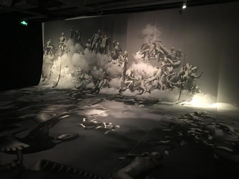 《虚拟最后审判-正视图》 尺寸可变 艺术微喷 2006