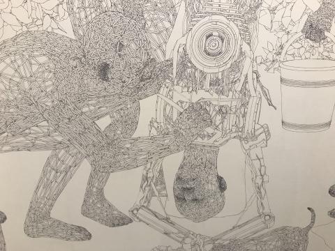 """用无数矢量线作的绘画,被缪晓春称为""""绝对素描"""""""