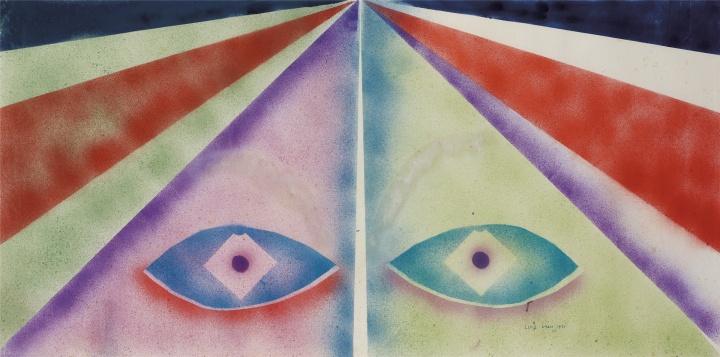 《无题》75×151.5cm 纸本丙烯 1972 © 艺术家家族珍藏