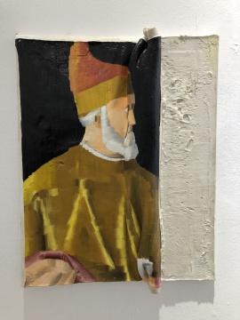 林枞 《古典肖像》 布面综合材料 40x50cm 2018