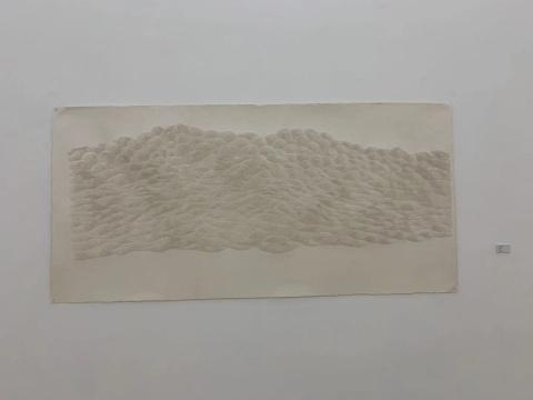 付小桐《455,600孔》116x240cm 手工宣纸 2018