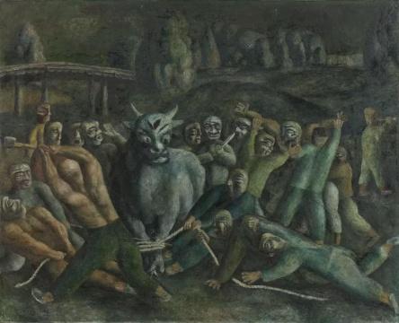 王焕青 《北方故事》 65×80cm布面油彩1990