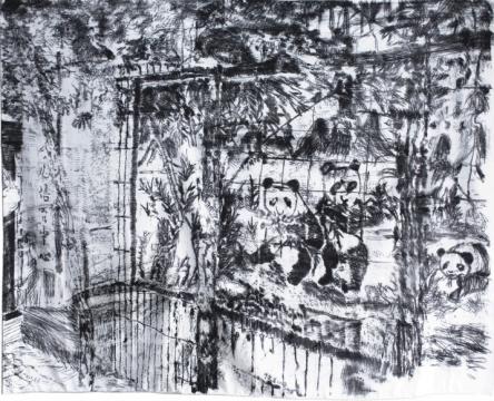 于艾君 《花园口》 160x209cm自由布面油画2018
