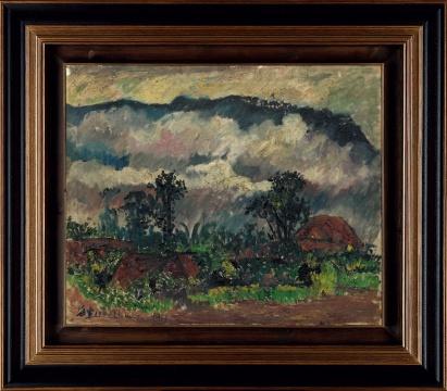 刘海粟《巴厘岛风景》60×74cm 油画  1940