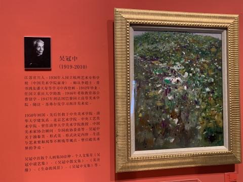 """吴冠中将油画和水墨画结合提炼的点线面等""""抽象""""绘画语言,更是开创了新的绘画风格,并影响了后世许多艺术家的创作"""