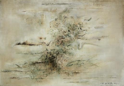 赵无极 《无题》 114.3×162.6cm 油彩画布 1958  估价:6000万-8000万港元