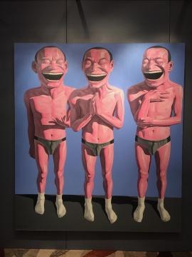 岳敏君 《无题》 210×230cm 油画画布 2013  估价:300万-500万港元