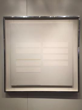 林寿宇 《综合媒材1957年2月》 102×102cm 综合媒材画布 1967  估价:260万-500万港元