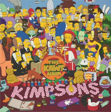 KAWS 《The KAWS Album》 111.6×111cm 亚克力画布 2005  估价:600万-800万港元