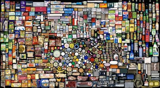 """洪浩 《结算2007 B》""""我的东西""""系列 2008 图片致谢佩斯画廊"""