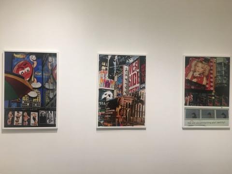 罗伯特·沃克(Robert Walker)的系列作品《时代广场,纽约》(Times Square,New York) 展览现场
