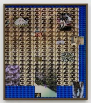 《A Shaking We No.4》141.8×123.8 cm,2018,C-print,三明治装裱,橡树木,彩色木漆