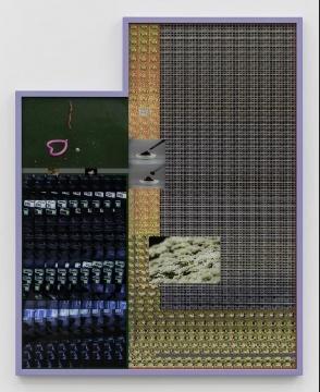 《A Shaking We No. 2》 156.5×125.4 cm,2018,C-print,三明治装裱,橡树木,彩色木漆