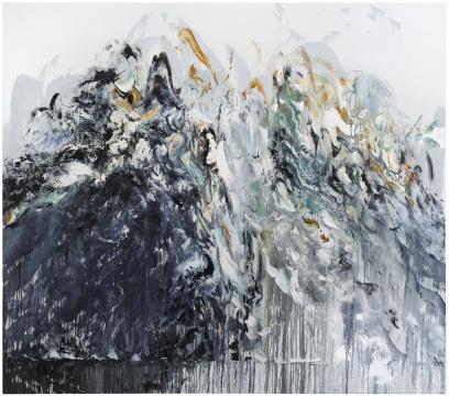 Maggi Hambling_Wall of water 6_Oil on canvas_198x226cm_2011. Copyright Maggi Hambling, courtesy Maggi Hambling Studio