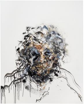 Maggi Hambling_Self-portrait_Oil on canvas_153x122cm_2017. Copyright Maggi Hambling, courtesy Maggi Hambling Studio