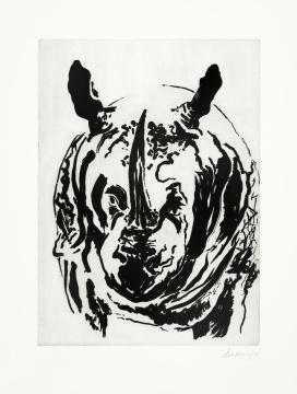 Maggi Hambling_Rosie the Rhino_Aquatint_64x49cm_2006