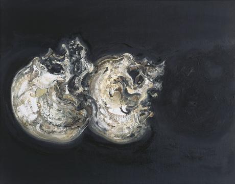 Maggi Hambling_Cuddling skulls_Oil on canvas_40x50cm_1995_