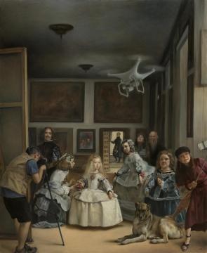 《被直播的现场》 280x230cm 布面油画 2017