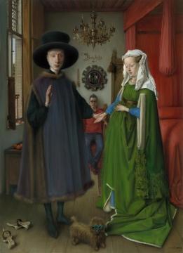 《证婚人》 布面油画  110×80 cm 2017