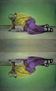 《纳西索斯》 布面油画 160x200cmx2 2015