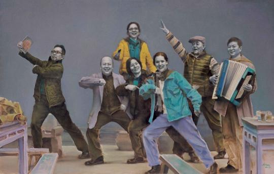 《沸腾的岁月》 布面油画 180x280cm 2013