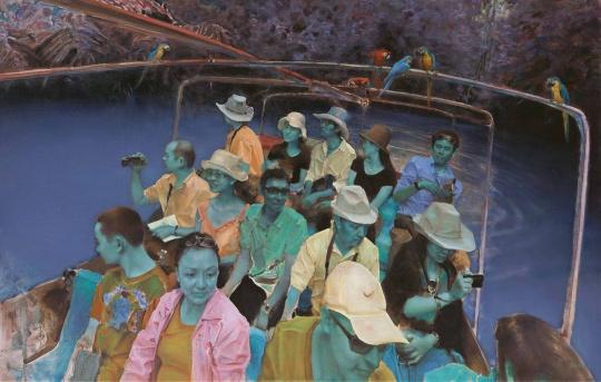 《末日遐想》 布面油画180x280cm 2012