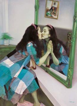 《镜花缘之二》 布面油画 160x120cm 2013