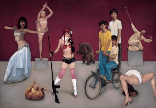 《邂逅之二》布面油画 180X260cm 2010